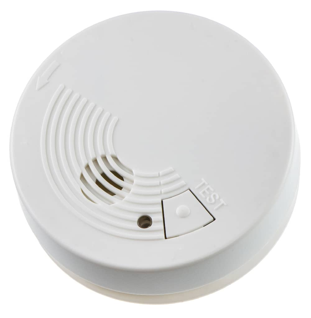 Smoke detector on isolated background.