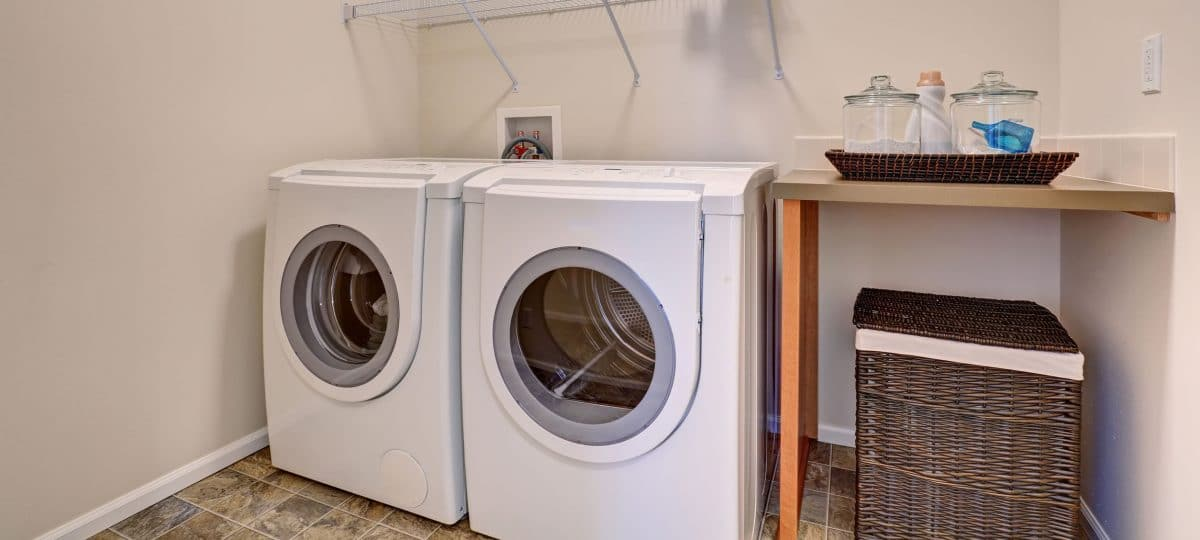 Washer and dryer in a home