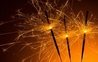 Burning sparkler fireworks